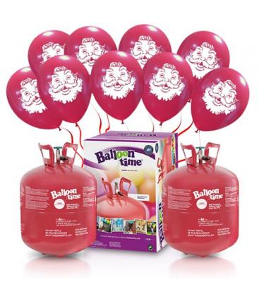 "Kit Elio X-LARGE + 60 palloncini rossi ""Babbo Natale"" - Ø 30 cm"