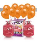 Kit Elio X-LARGE + 60 palloncini metallizzati arancioni - Ø 27 cm