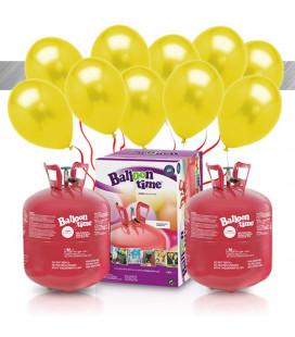 Kit Elio X-LARGE + 60 palloncini metallizzati gialli - Ø 27 cm