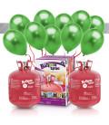 Kit Elio X-LARGE + 60 palloncini metallizzati verdi - Ø 27 cm