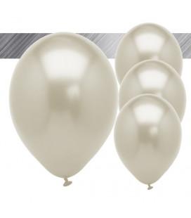 Palloncini Argento Metallizzati - Ø 27 cm - 25 pezzi