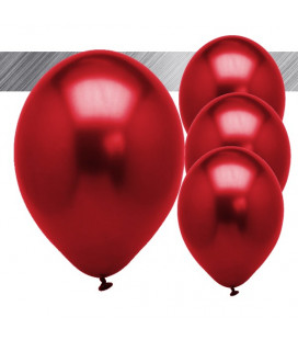 Palloncini Rossi Metallizzati - Ø 27 cm - 25 pezzi