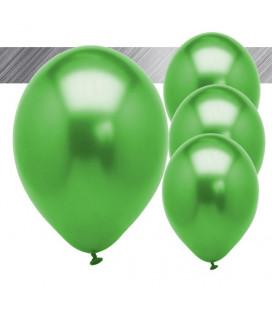 Palloncini Verdi Metallizzati - Ø 27 cm - 25 pezzi