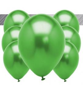 Palloncini Verdi Metallizzati - Ø 27 cm - 100 pezzi