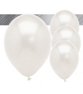Palloncini Bianchi Metallizzati - Ø 27 cm - 50 pezzi