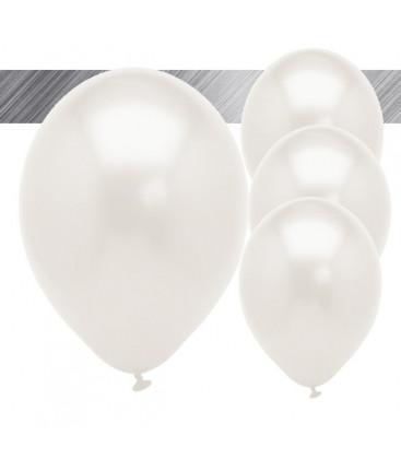 Palloncini Bianchi Metallizzati - Ø 27 cm - 25 pezzi