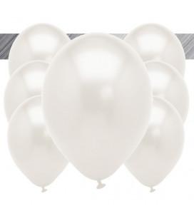 Palloncini Bianchi Metallizzati - Ø 27 cm - 100 pezzi