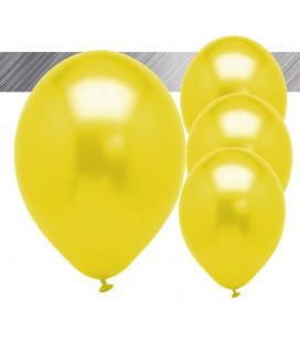 Palloncini Gialli Metallizzati - Ø 27 cm - 25 pezzi