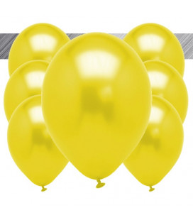 Palloncini Gialli Metallizzati - Ø 27 cm - 100 pezzi