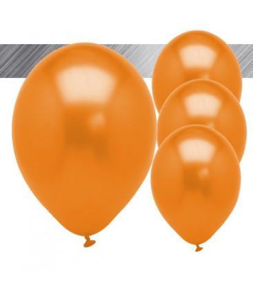Palloncini Arancione Metallizzati - Ø 27 cm - 25 pezzi