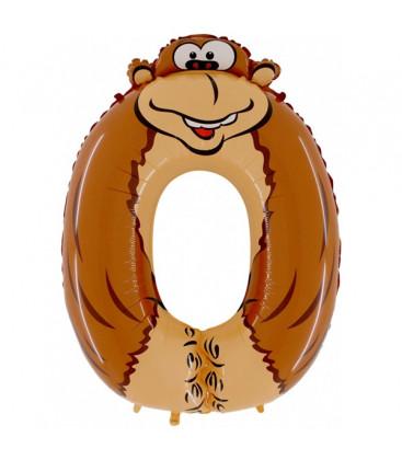 Animaloons Gorilla - Numero 0 (zero) Large - 102 cm