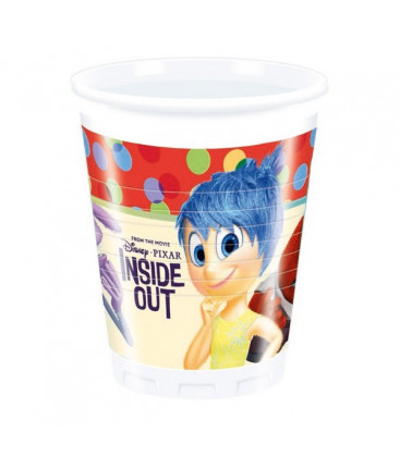 Inside Out - Bicchiere Plastica 200 ml - 8 pezzi