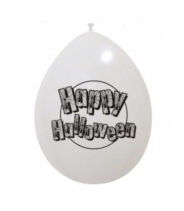 Palloncini bianchi Halloween ragnatele - Ø 26 cm - 50 pezzi