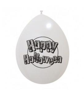 Palloncini bianchi Halloween ragnatele - Ø 26 cm - 100 pezzi
