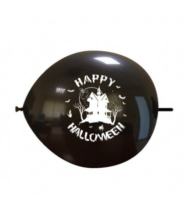 Palloncini link Halloween casa - Ø 32 cm - 100 pezzi