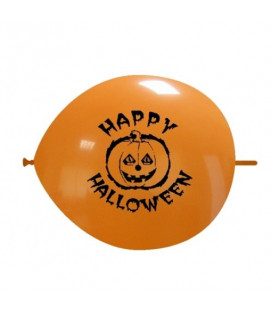 Palloncini link Halloween zucca - Ø 32 cm - 50 pezzi