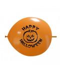 Palloncini link Halloween zucca - Ø 32 cm - 100 pezzi
