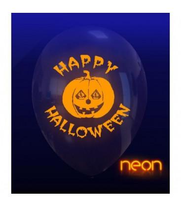 Palloncini neon Halloween zucca - Ø 30 cm - 100 pezzi