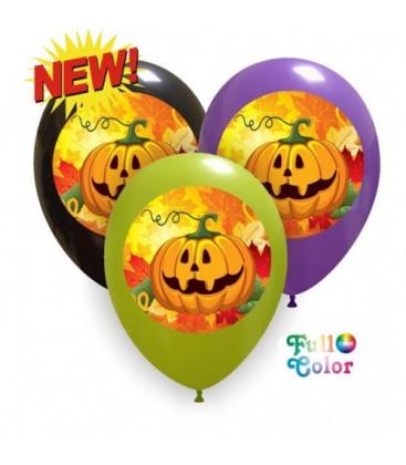 Palloncini color Halloween zucca - Ø 30 cm - 100 pezzi