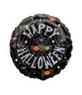 Palloncino ragnatela Halloween HeXL® - Ø 46 cm