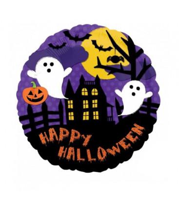 Palloncino scena Halloween HeXL® - Ø 46 cm