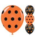 Palloncini Halloween pois - Ø 30 cm - 50 pezzi