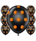 Palloncini Halloween pois - Ø 30 cm - 100 pezzi