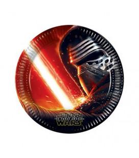 Star Wars - Il Risveglio della Forza - Kylo Ren - Piatti 23 cm - 8 pezzi