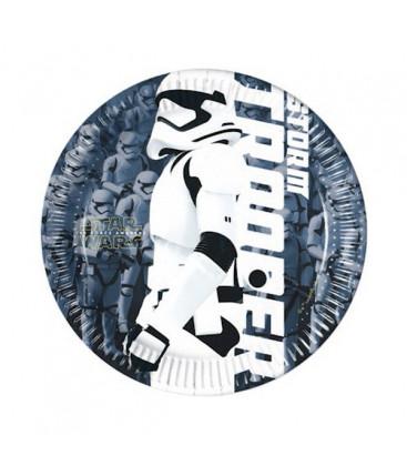 Star Wars - Il Risveglio della Forza - Piatti 20 cm - 8 pezzi