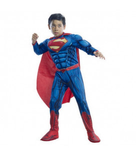 SUPERMAN - Costume modello Deluxe con muscoli - 1 pezzo