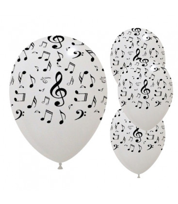 Palloncini Note Musicali - Ø 30cm - 50 pezzi