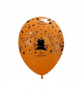 Palloncini stampa Happy Halloween biodegradabili - Ø 27 cm - 100 pezzi