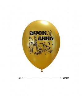 """Palloncini Oro """"Buon Anno"""" - Ø 27 cm - 100 pezzi"""