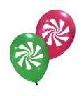 Palloncini assortiti Caramella di Natale - Ø 30 cm - 100 pezzi