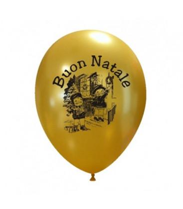 Palloncini oro Buon Natale Bimbi - Ø 27 cm - 50 pezzi