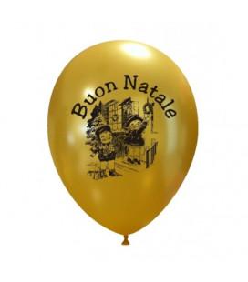 Palloncini oro Buon Natale Bimbi - Ø 27 cm - 100 pezzi