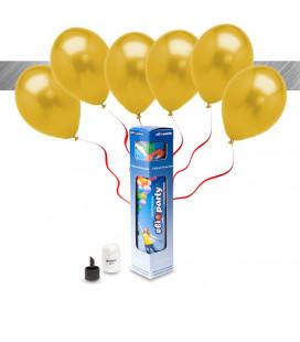 Kit Metallizzato SMALL + 8 palloncini metallizzati oro - Ø 27 cm