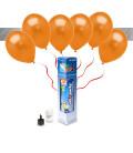 Kit Metallizzato SMALL + 8 palloncini metallizzati arancioni - Ø 27 cm