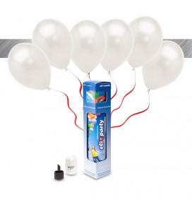 Kit Metallizzato SMALL + 8 palloncini metallizzati bianchi - Ø 27 cm