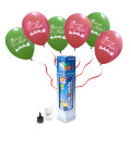 "Kit Elio SMALL + 6 palloncini assortiti ""Buone Feste"" - Ø 30 cm"