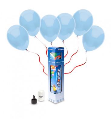 Kit Elio SMALL + 10 palloncini azzurri - Ø 23 cm