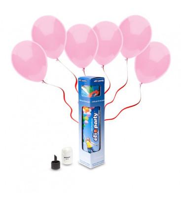 Kit Elio SMALL + 10 palloncini rosa - Ø 23 cm