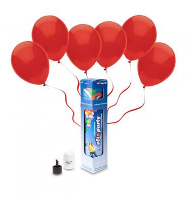 Kit Elio SMALL + 10 palloncini rossi - Ø 23 cm