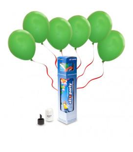 Kit Elio SMALL + 10 palloncini verdi - Ø 23 cm