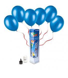 Kit Elio SMALL + 10 palloncini blu - Ø 23 cm