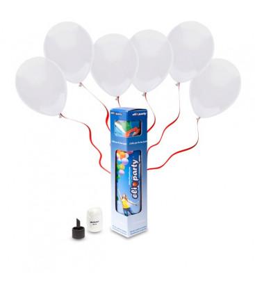 Kit Elio SMALL + 10 palloncini bianchi - Ø 23 cm