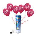 Kit Elio SMALL + 5 palloncini rossi San Valentino - Ø 30 cm