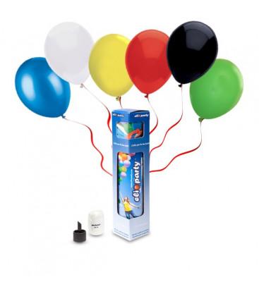 Kit Elio SMALL + 10 palloncini assortiti - Ø 23 cm