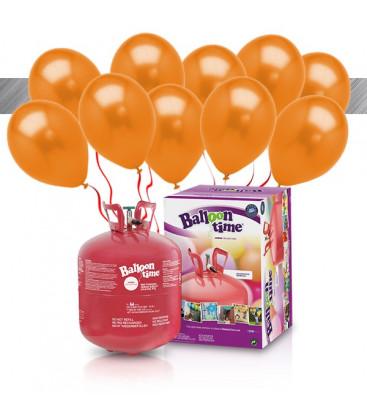 Kit Elio LARGE + 30 palloncini metallizzati rossi - Ø 27 cm