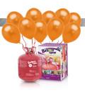 Kit Elio LARGE + 30 palloncini metallizzati arancioni - Ø 27 cm